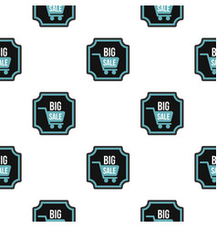 big sale sticker pattern flat vector image