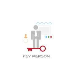 businessperson company worker potential key person vector image