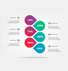 chart of percentage infographics element of graph vector image