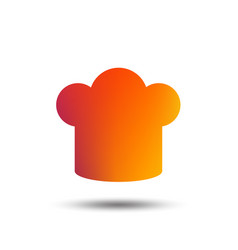 chief hat sign icon cooking symbol vector image