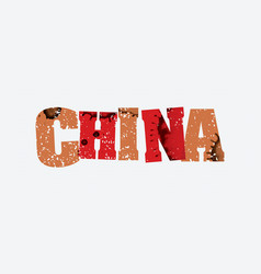 China concept stamped word art vector