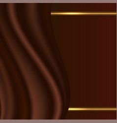 Chocolate abstract background with smooth satin vector