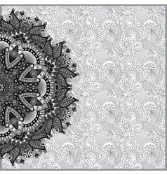 Circle grey lace ornament round ornamental vector image