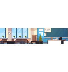 Class room interior horizontal banner empty school vector