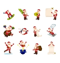 Collection of Christmas Santa Claus vector