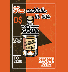 color vintage bar banner vector image vector image