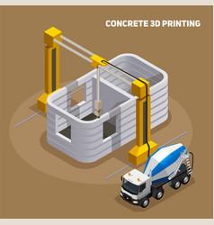 concrete 3d printing composition vector image