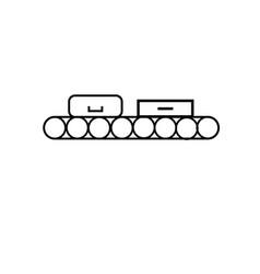 Conveyor icon vector