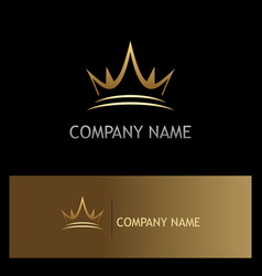 Crown gold company logo vector