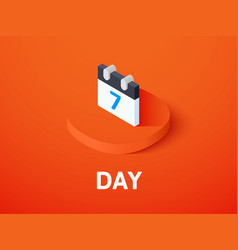 day isometric icon isolated on color background vector image