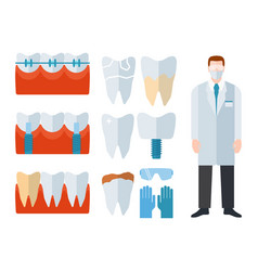 Dentist and stomatology equipment vector