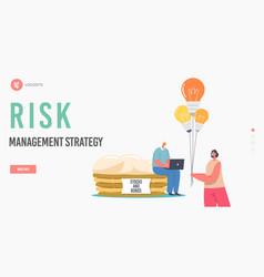 Diversification financial risk management vector
