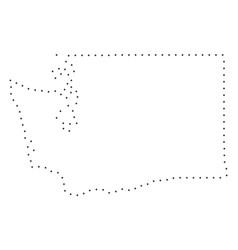 Dot stroke washington state map vector