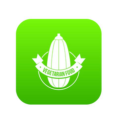 eco vegetarian food icon green vector image