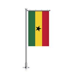 flag of ghana hanging on a pole vector image