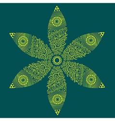 floral ornament decoration vector image