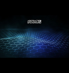 Futuristic hexagon futuristic vector