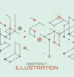 geometric lines and dots vector image