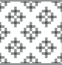 geometric squares seamless ornament simple black vector image
