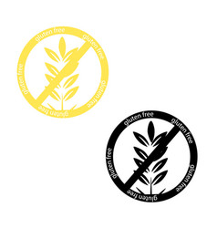 gluten free icon set collection isolated on white vector image