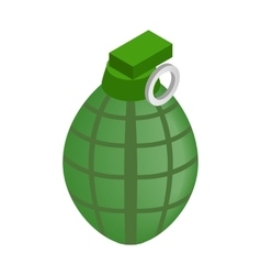 Hand grenade isometric 3d icon vector image