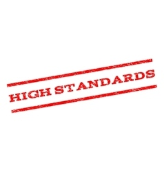 High Standards Watermark Stamp vector image