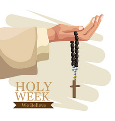 holy week catholic tradition vector image