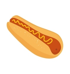hot dog isolated icon vector image