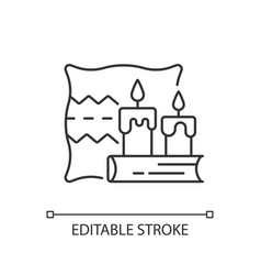 hygge linear icon vector image