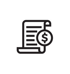 invoice bill document line icon vector image