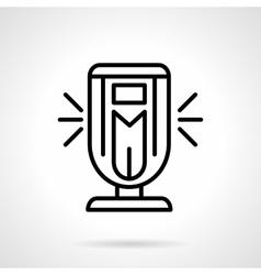 Ionizer black simple line icon vector image
