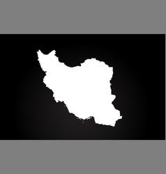 iran black and white country border map logo vector image