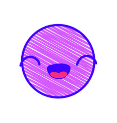 isolated emoticon design vector image
