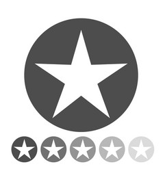 isolated gray star icon ranking mark vector image vector image