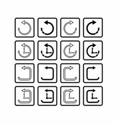 Isolated undo and redo icon vector