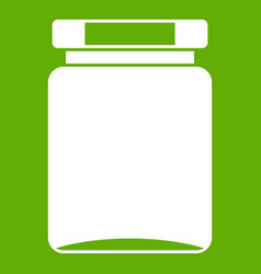 Jar icon green vector