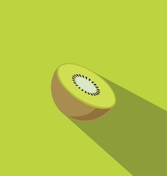 Kiwi Fruit Flat Design vector image