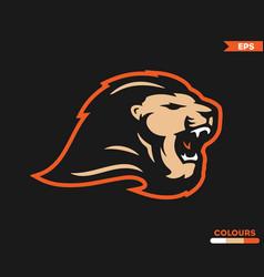 lion roar logo vector image