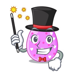 Magician color the easter eggs isolated mascot vector
