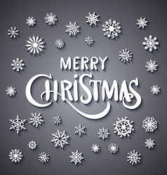 Merry christmas - glittering lettering design with vector