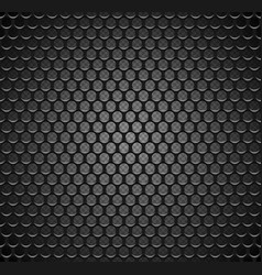 Metal grid seamless pattern on transparent vector