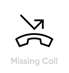 missing call icon vector image