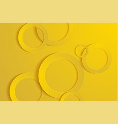 Modern gold backgrounds 3d circle papercut layer vector