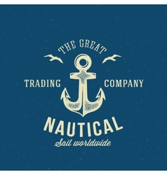 Nautical Retro Logo or Label Template vector image