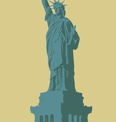 New York the Statue of Liberty on a light vector image