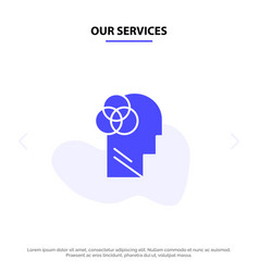 our services human intelligence human intelligent vector image