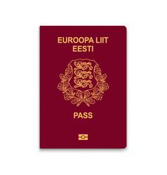 Passport estonia vector
