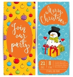 personal offer to join corporate christmas party vector image