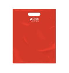 plastic bag template vector image
