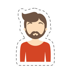 Portrait character man male vector